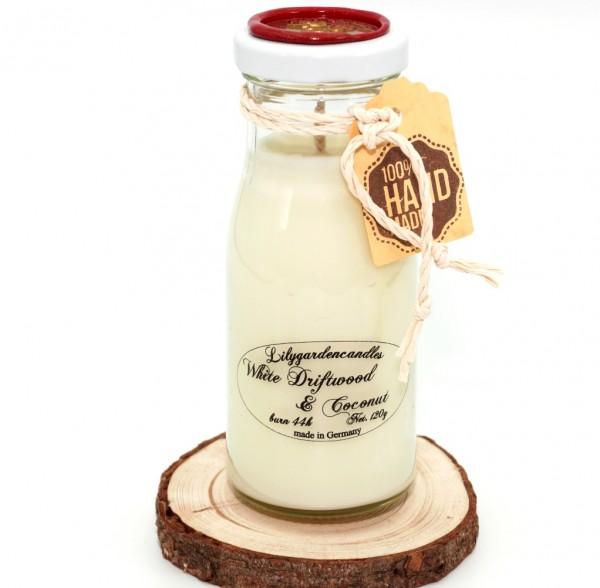 White Driftwood & Coconut Milk Bottle small