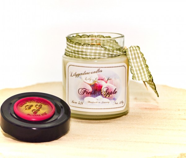 Fresh Apple Lily Round Jar mini