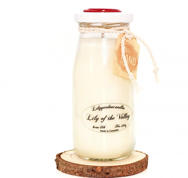 Lily of the Valley Milk Bottle large