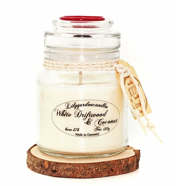 White Driftwood & Coconut Stopper Jar