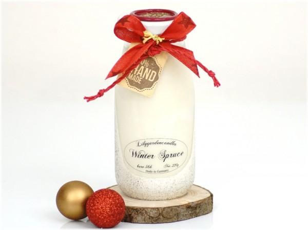 Winter Spruce Milk Bottle large white