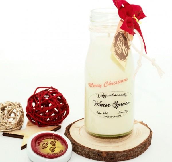 Winter Spruce Milk Bottle small