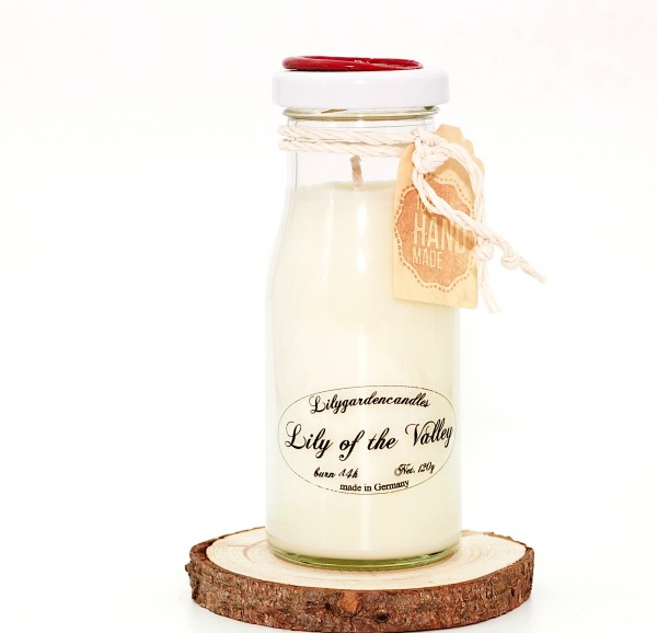 Lily of the Valley Milk Bottle small