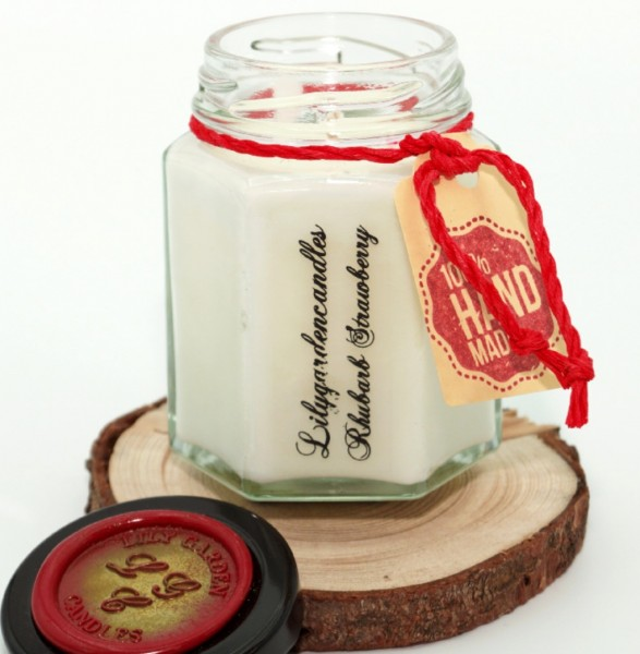 Rhubarb Strawberry Coutry House Jar small