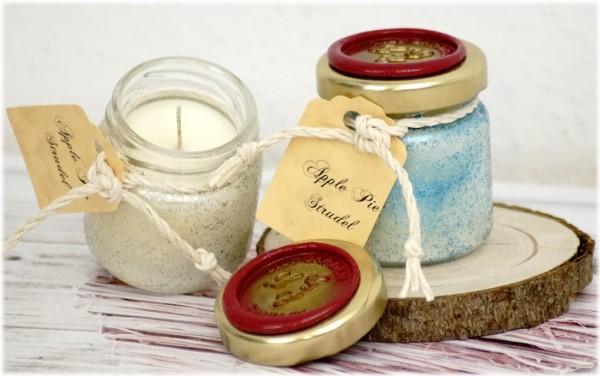 Apple Pie Strudel Tealight Jar