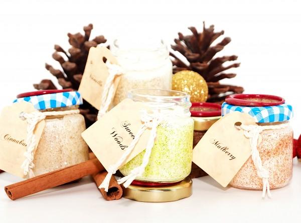 Tealight-Set Winter mit Mulberry, Cinnabuns, Vanilla uns Sweet Wood