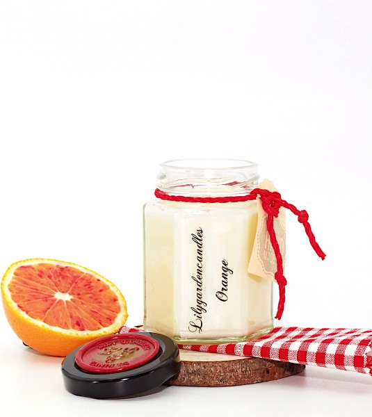 Orange Country House Jar small
