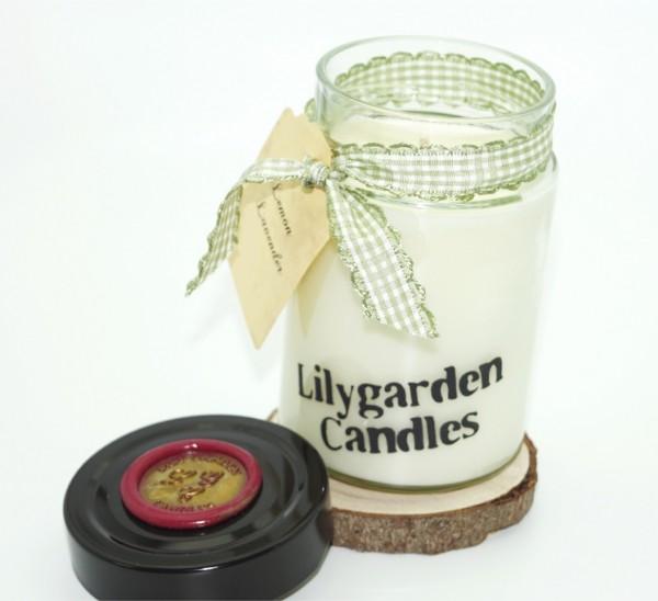 Lemon Lavender Lily Round Jar medium
